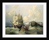 A brig leaving Dover by George Chambers the Elder
