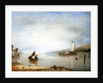 Dead calm: Boats off Cowes Castle by Augustus Wall Callcott