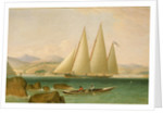 A Bermuda schooner yacht offshore by John Lynn