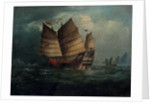 Chinese junks by George Chinnery