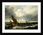 Guardship off The Nore by British School