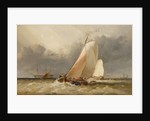 Dutch yachting on the Zuider Zee by Edward William Cooke