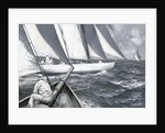 A yacht luffing by Charles M Padday
