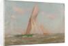 Yachts at sea by John Fraser