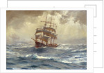 A barque running before a gale by Thomas Jacques Somerscales
