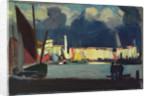 Harbour scene by Herbert Barnard John Everett