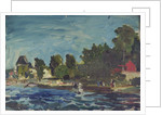 The Royal Yacht Squadron Club House at regatta time by John Everett