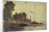 The Royal Yacht Squadron Club House at regatta time by John Everett