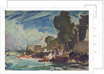 The Royal Yacht Squadron Club House, Cowes, at regatta time by Herbert Barnard John Everett