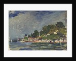 The Royal Yacht Squadron Club House, Cowes, at regatta time by John Everett