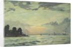 The Royal Yacht Squadron Club House, Cowes, at regatta time by Herbert Barnard John Everett