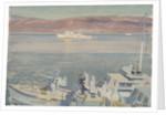 MGBs and HMS 'Conn' in Loch Eriboll in 1945 by Stephen Bone