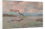 The end of the journey: a merchant vessel entering the Clyde at sunrise by Stephen Bone