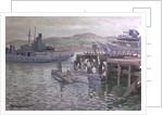 Midget submarines at Campbeltown by Stephen Bone