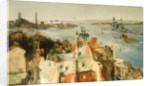 HMS 'Revenge' leaving harbour by Richard Ernst Eurich