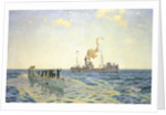 Surrender of U-111 to the trawler 'Lady Shirley' by Charles Pears