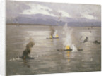 Beaufighters attacking an enemy convoy by Norman Wilkinson