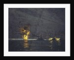 Night action off Cape Matapan, Greece, 28 March 1941 by Norman Wilkinson