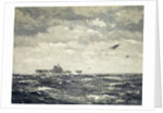 Mitchells taking off from US carrier 'Hornet', 18 April 1942 by Norman Wilkinson