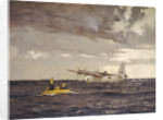 A Sunderland flying boat rescuing the crew of a Liberator by Norman Wilkinson