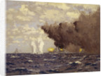Admiral Vian's action at the Battle of Sirte, 22 March 1942 by Norman Wilkinson