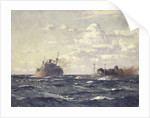 A rescue tug approaching a steamship by Norman Wilkinson