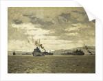 Convoy entering Murmansk by Norman Wilkinson