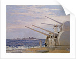 Six-inch gun light cruisers of the Leander class by Norman Wilkinson