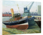 The tug 'Agama' at Greenwich by Anne Christopherson