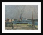 A destroyer in the West India Dock, London by Lord Methuen
