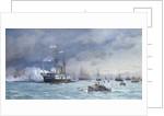 HMS 'Edinburgh' on anti-torpedo exercise by Eduardo de Martino