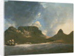 A View of the Cape of Good Hope, taken on the spot, from on board the 'Resolution' by William Hodges
