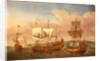 The 'Peregrine' and other Royal yachts off Greenwich circa 1710 by Jan Griffier