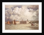Barges off Greenwich by Norman Wilkinson