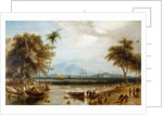 The watering place at Anjer Point in the island of Java by William Daniell