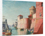 Harbour at Leghorn by John Everett