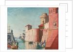 Harbour at Leghorn by Herbert Barnard John Everett