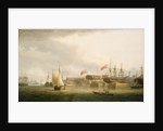 Shipbuilding on the Thames at Redriff by Thomas Whitcombe