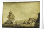 A Dutch ship arriving at Naples by Cornelis Bouwmeester