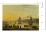 Landing from the ferry at Teignmouth, Devon by Thomas Luny