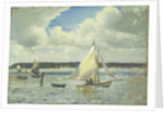 Scene at Cowes Regatta, Isle of Wight by John Everett