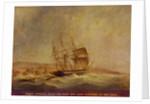HMS 'Pique' off Point Forteau, 23 September 1835 by John Christian Schetky