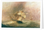 HMS 'Pique' in a gale during her return to England by John Christian Schetky