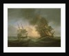 Loss of the East Indiaman 'Kent': catching fire, 1 March 1825 by Thomas Luny