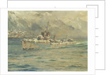 HMS 'Montrose' Arriving at Reykjavik, Iceland by Charles E. Turner