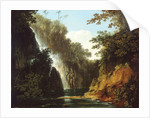 A waterfall in Tahiti by William Hodges