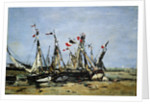 Trouville, awaiting the tide by Eugene Louis Boudin