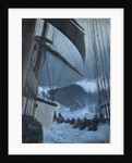 The deck of the 'Birkdale' in a storm by John Everett