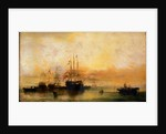 A Danish ship and other vessels becalmed by William McAlpine