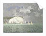 Yachts off the Needles, Isle of Wight by Norman Wilkinson